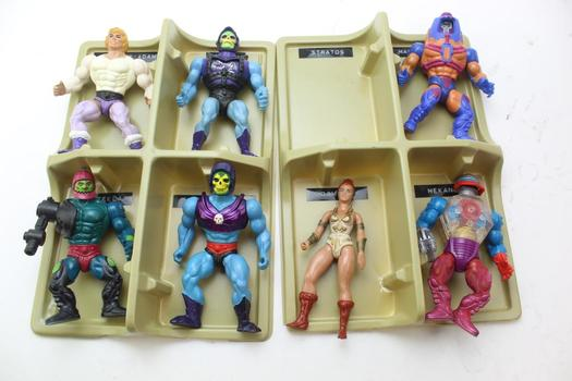 Masters Of The Universe Collectors Case With 7 Vintage Masters Of The Universe Action Figures