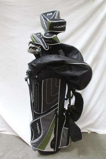 Maxfli Revolution Golf Bag With Clubs, 10 Pieces