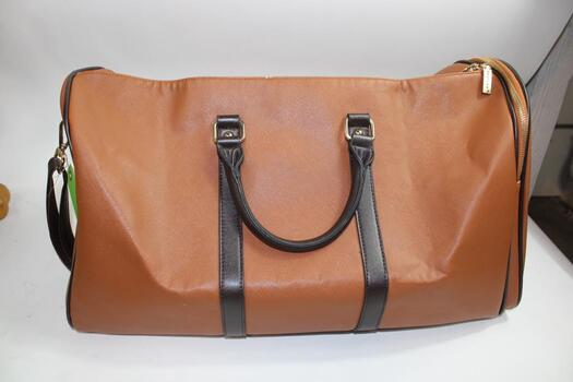 Maylea Brown Leather Duffel Bag And Black Guess Handbag