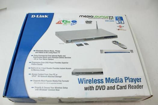 Media Lounge D-Link Wireless Media Player With DVD Player & Card Reader