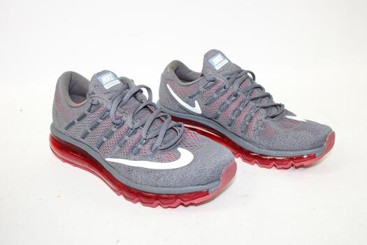 Men's Grey& Red  Nike Air Max 2016 Running Shoes