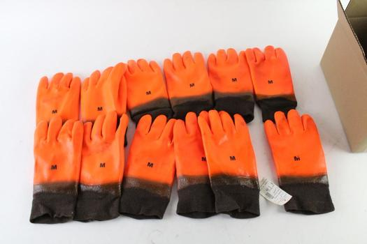 Men's Molded Gloves, 12 Pieces
