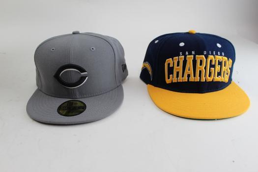 Men's Sports Caps; 2 Pieces