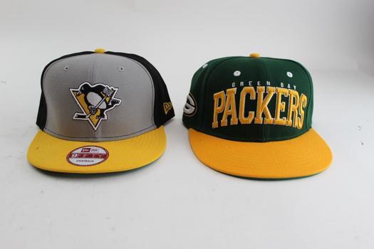 Men's Sports Snapback Caps; 2 Pieces