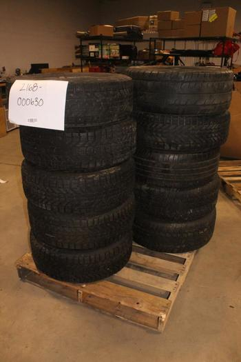 "Metal 15"", 16"" And 17"" Rims, 10 Pieces"