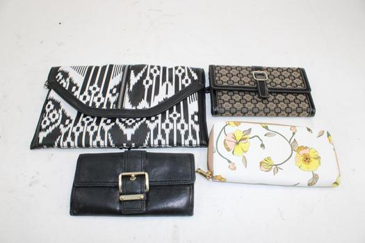 Michael Kors, A New Day, & More Assorted Wallets & A Clutch Bag; 4 Pieces