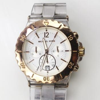 Michael Kors Bel Aire Clear Resin Watch