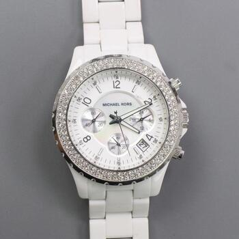 "Michael Kors ""Mother Of Pearl"" Chronograph Watch"