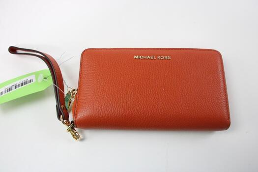 Michael Kors Orange Wrist Wallet