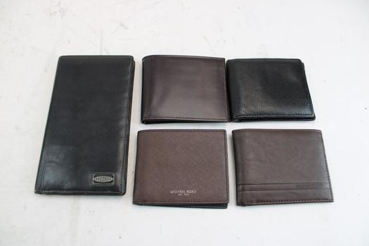 Michael Kors, Perry Ellis, & More Assorted Wallets; 5 Pieces