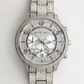 Michael Kors Runway Glitz Pave Chronograph Watch