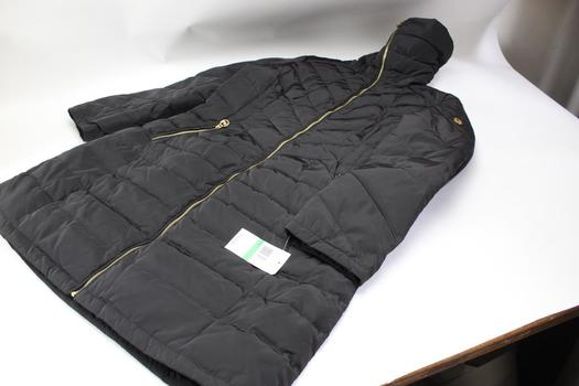 Michael Kors Zip Quilted Puffer Coat, Size L