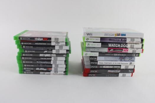Microsoft Xbox One And Other Games, 15+ Pieces