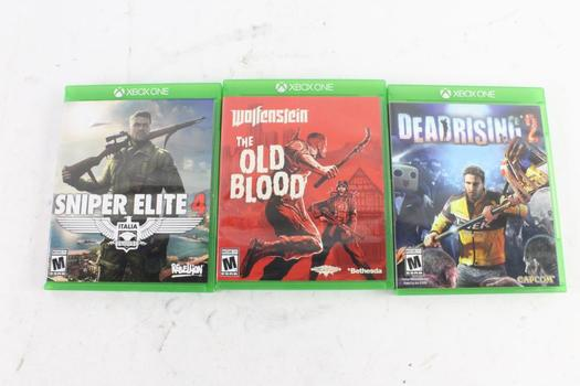 Microsoft Xbox One Games, 3 Pieces