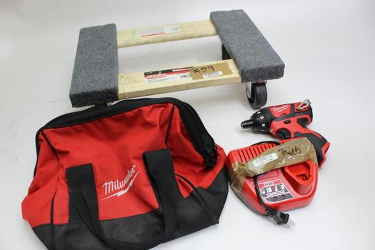 Milwaukee 2401-20 Screwdriver & Haulmaster Mover's Dolly
