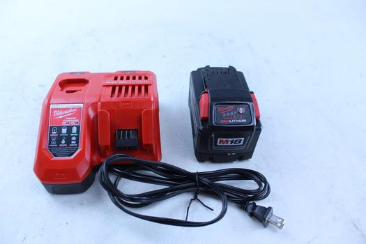 Milwaukee Battery & Charger; 2 Pieces