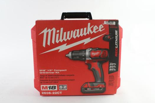 Milwaukee Cordless Drill/Driver Kit