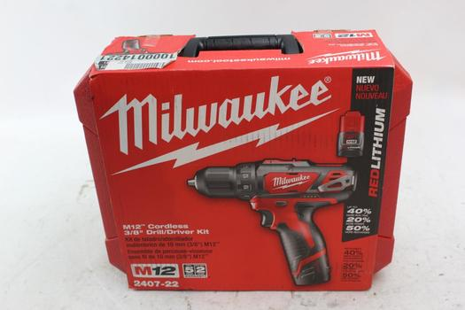 "Milwaukee M12 Cordless 3/8"" Drill/ Driver"