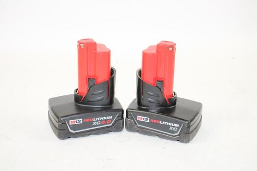 Milwaukee M12 Red Lithium Xc And 4.0ah Battery Packs
