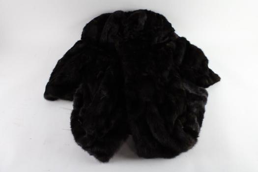 Mink Fur Coat, Size 16