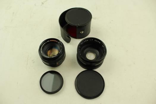 Minolta Lens & Close-up Attachment; 2 Pieces