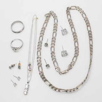 Mixed Jewelry, 8 Pieces, Includes Silver Earrings
