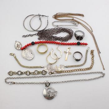 Mixed Jewelry And Coins, 12+ Pieces
