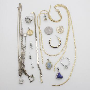 Mixed Jewelry And Coins, 5+ Pieces