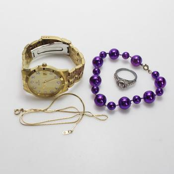 Mixed Jewelry And Watch, 4 Pieces
