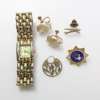 Mixed Jewelry And Watch, 5 Pieces