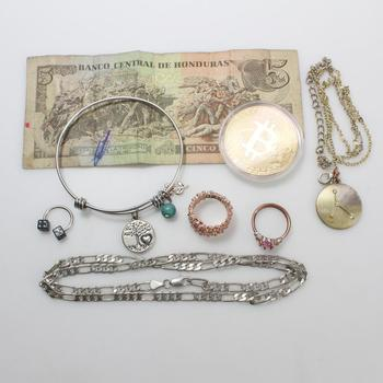 Mixed Jewelry, Token And Money, 6+ Pieces