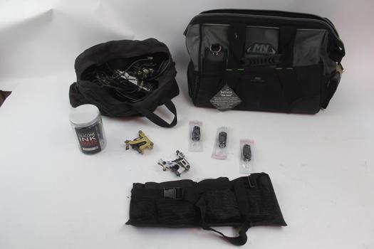MN Black Label Bag, Tattoo Supplies, Sterilized Tubes: 5+ Items
