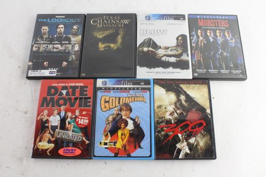 Mobsters, 300,  Blow, And More DVD Movies, 7 Pieces