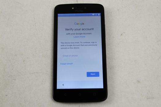 Motorola Moto C, 16GB, Unknown Carrier, Google Account Locked, Sold For Parts