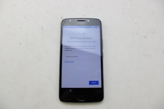 Motorola Moto E Plus 4th Gen, 32GB, Unknown Carrier, Google Account Locked, Sold For Parts