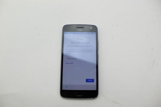 Motorola Moto G Plus 5th Gen, 32GB, Unknown Carrier, Google Account Locked, Sold For Parts