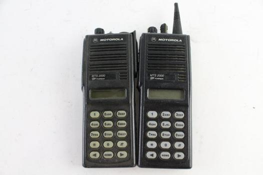 Motorola MTS2000 Handie-Talkie FM Radio, 2 Pieces