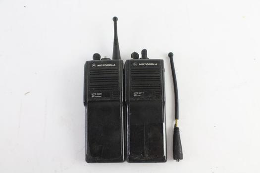 Motorola MTS2000 Two Way Radios, 2 Pieces