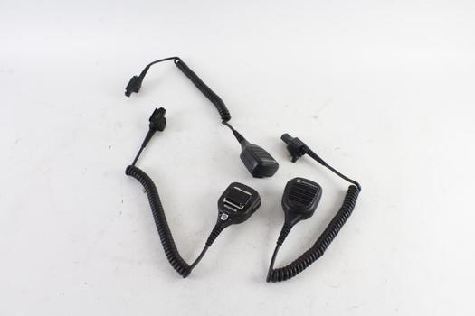 Motorola Shoulder Mics, 3 Pieces