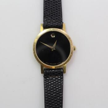 Movado Museum 14kt Gold Case
