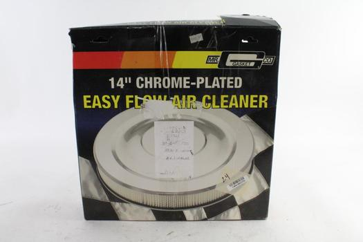 """Mr. Gasket Co. 14"""" Chrome-Plated Easy Flow Air Cleaner"""