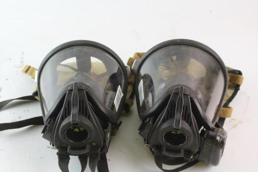MSA SCBA Facemask, Size Small, 2 Pieces