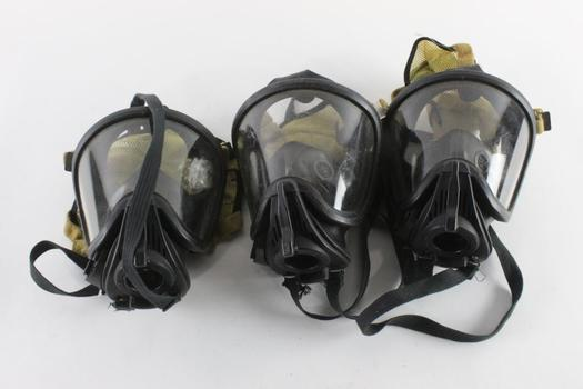 MSA S.C.B.A. Masks, Size M, 3 Pieces