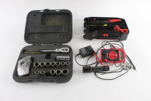 Multimeter, Flashlight And More, 10+ Pieces