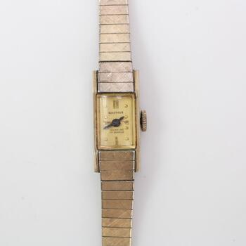 Nastrix Incabloc 10k Gold Plated Watch