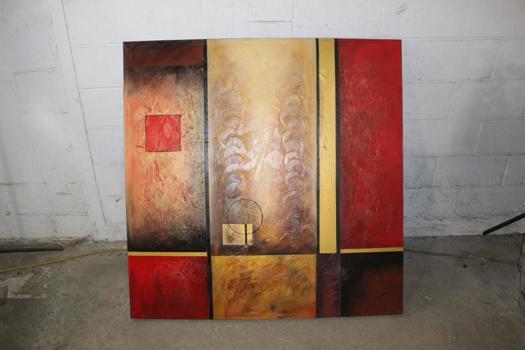 Nebraska Furniture Mart Geometric Painting