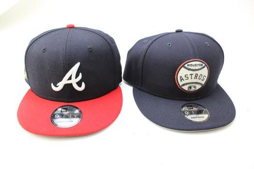 New Era 9Fifty Snapback Baseball Caps: Houston Astros, Atlanta Braves: 2 Items