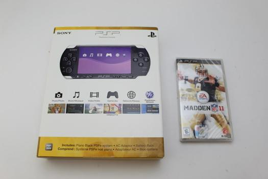 New Sony PSP System W/psp Ea Sports Madden Nfl 11 Game; 2 Pieces