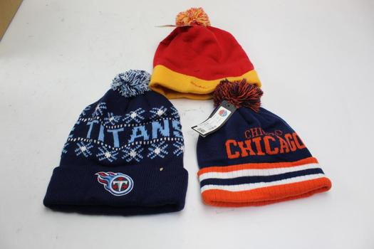NFL, City Hunter, Mitchell And Ness Beanies, 3 Pieces