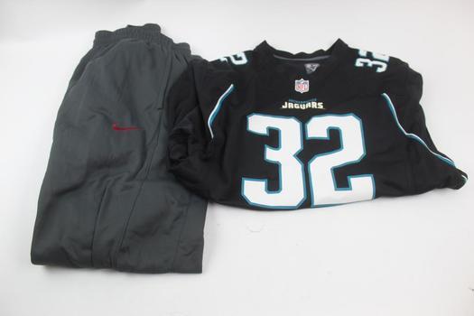 NFL Jacksonville Jaguars Football Jersey, Nike Therma Fit Jogging Pants: 2 Items